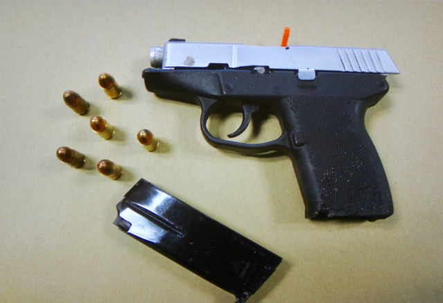 A stolen handgun used in a shootout between police and Angelo Perry in December had been stolen during an earlier robbery in Virginia Beach, according to police. The gun was linked to two homicides and other violent crimes. [Virginia Beach Police Department/Courtesy]