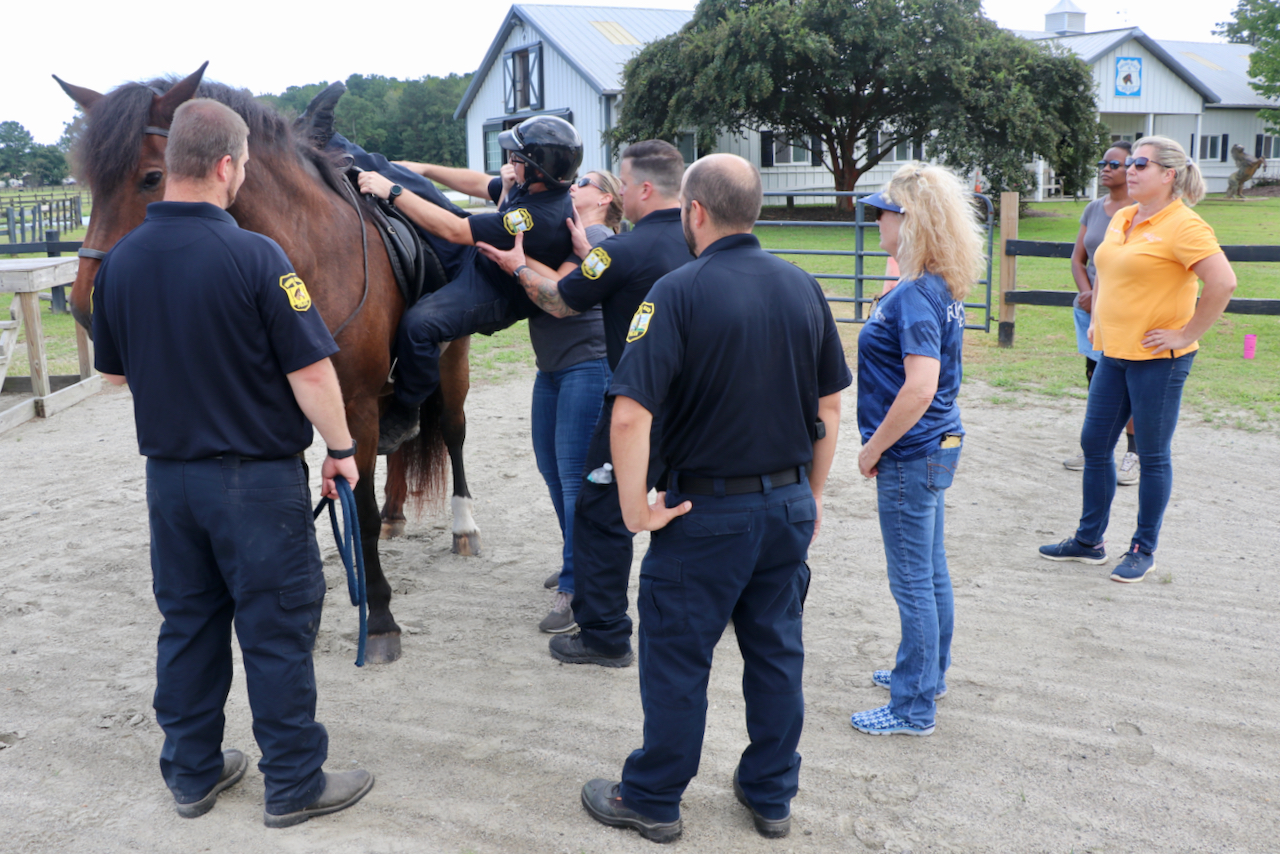 New effort at Virginia Beach police mounted patrol facility in Pungo offers therapeutic riding for public safety personnel