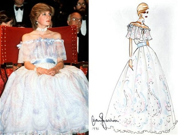 ICONIC PRINCESS DIANA DRESSES BY BELLVILE SASSOON TO GO ON