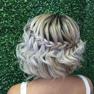 Short hair bride braid2