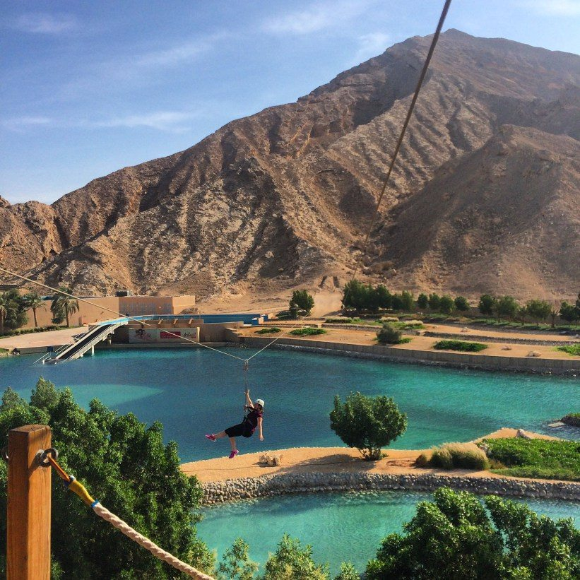 zip lining in the UAE | teach and travel part 2