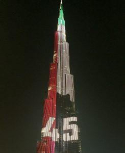 Burj Khalifa celebrates National Day
