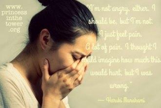 23 princess quote not angry pain Haruki Murakami