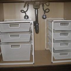 Under Kitchen Sink Storage Painting Cabinets Ideas The Organization  Pleia2 39s Blog