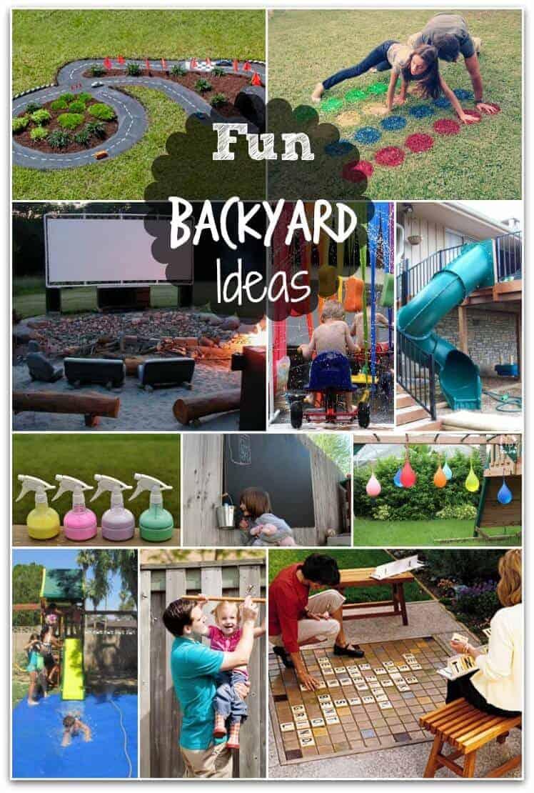 Fun Backyard Ideas  these DIY ideas will make summertime