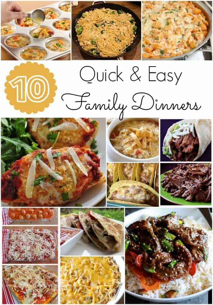 Quick and easy family dinners
