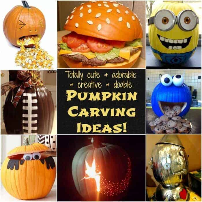 totally cute and adorable and creative and doable pumpkin carving ideas square