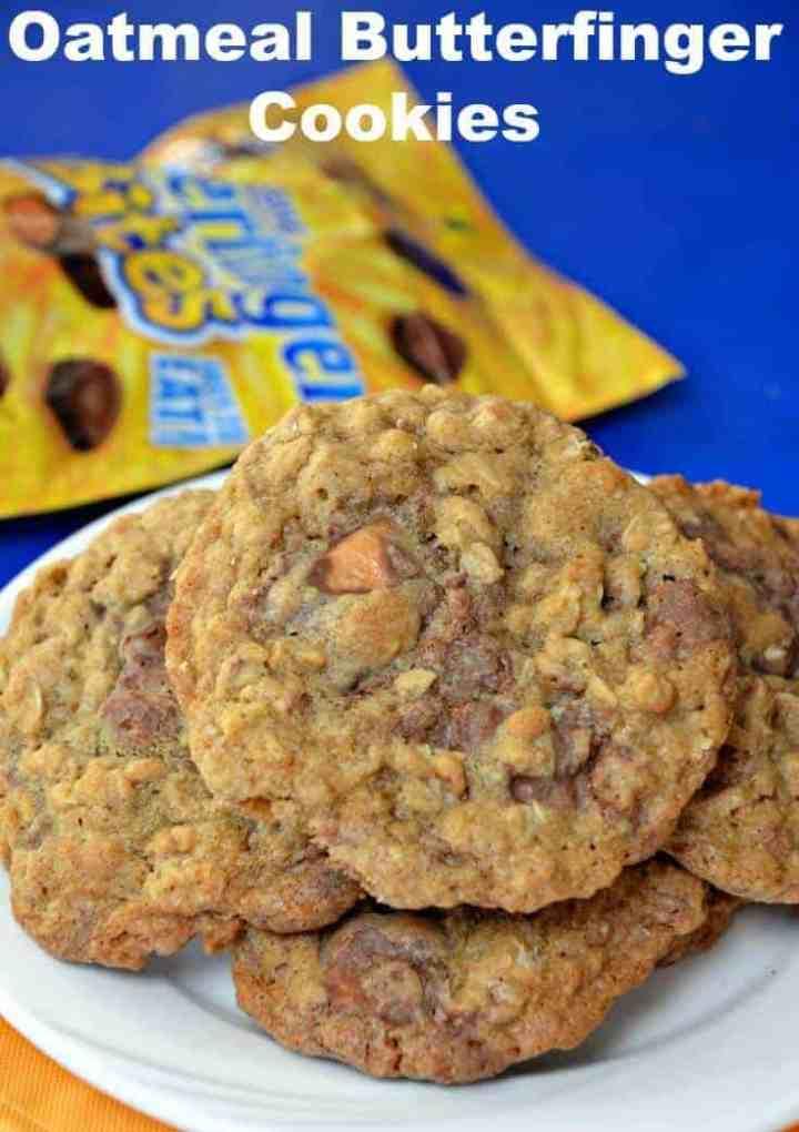 Oatmeal Butterfinger Cookies