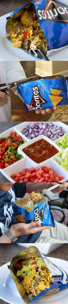 Walk taco bar - a great recipe for a crowd