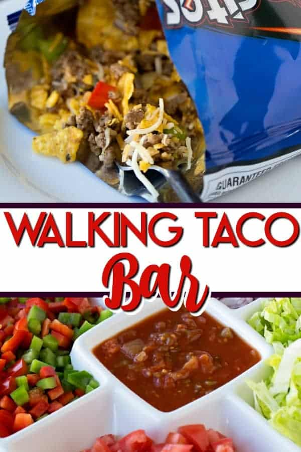 Walking taco bar