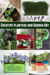 Creative Planters And Garden Art Ideas - Of