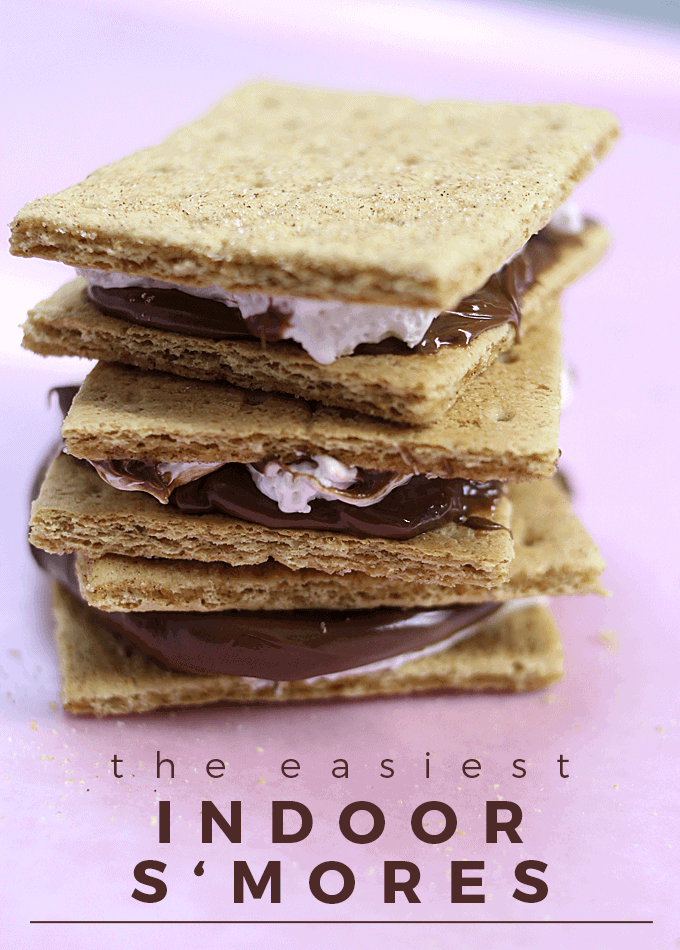 These incredibly easy indoor s'mores are just as amazing as your campfire recipe but require no heat!