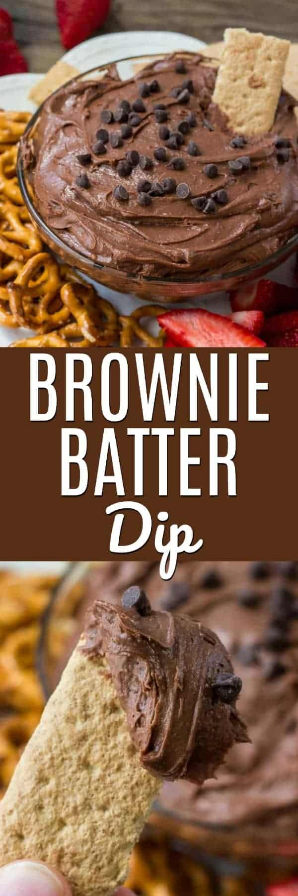 Brownie batter dip is the most decadent, delicious, easy way to eat brownies. It's extra smooth and creamy, super chocolate-y and the perfect treat for parties and get-togethers.