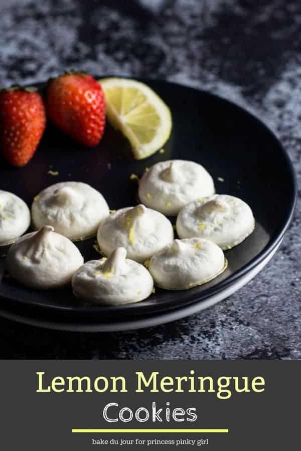 Pinterest graphic for Lemon Meringue Cookies