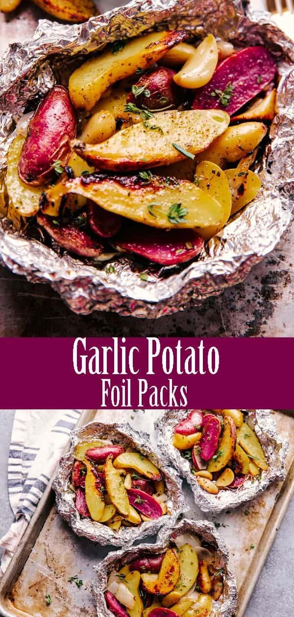 Garlic Potato Foil Packs
