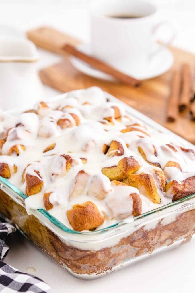 Cinnamon roll bake ready