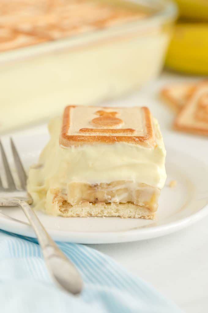 Slice of Not Yo' Mama's Banana Pudding