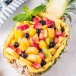 Pineapple fruit salad featured image