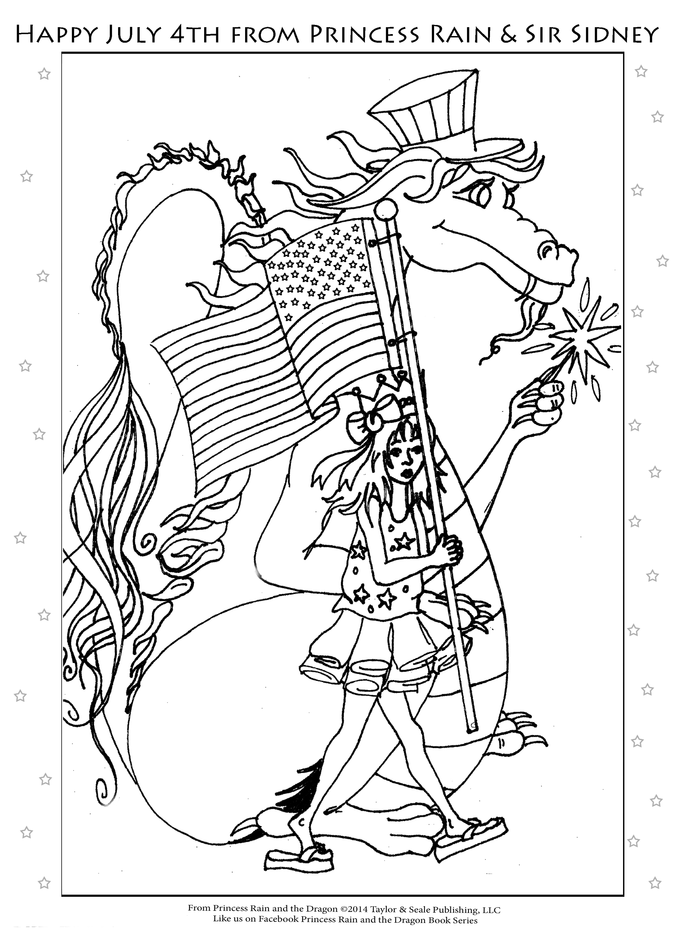 Happy 4th of July Coloring Page