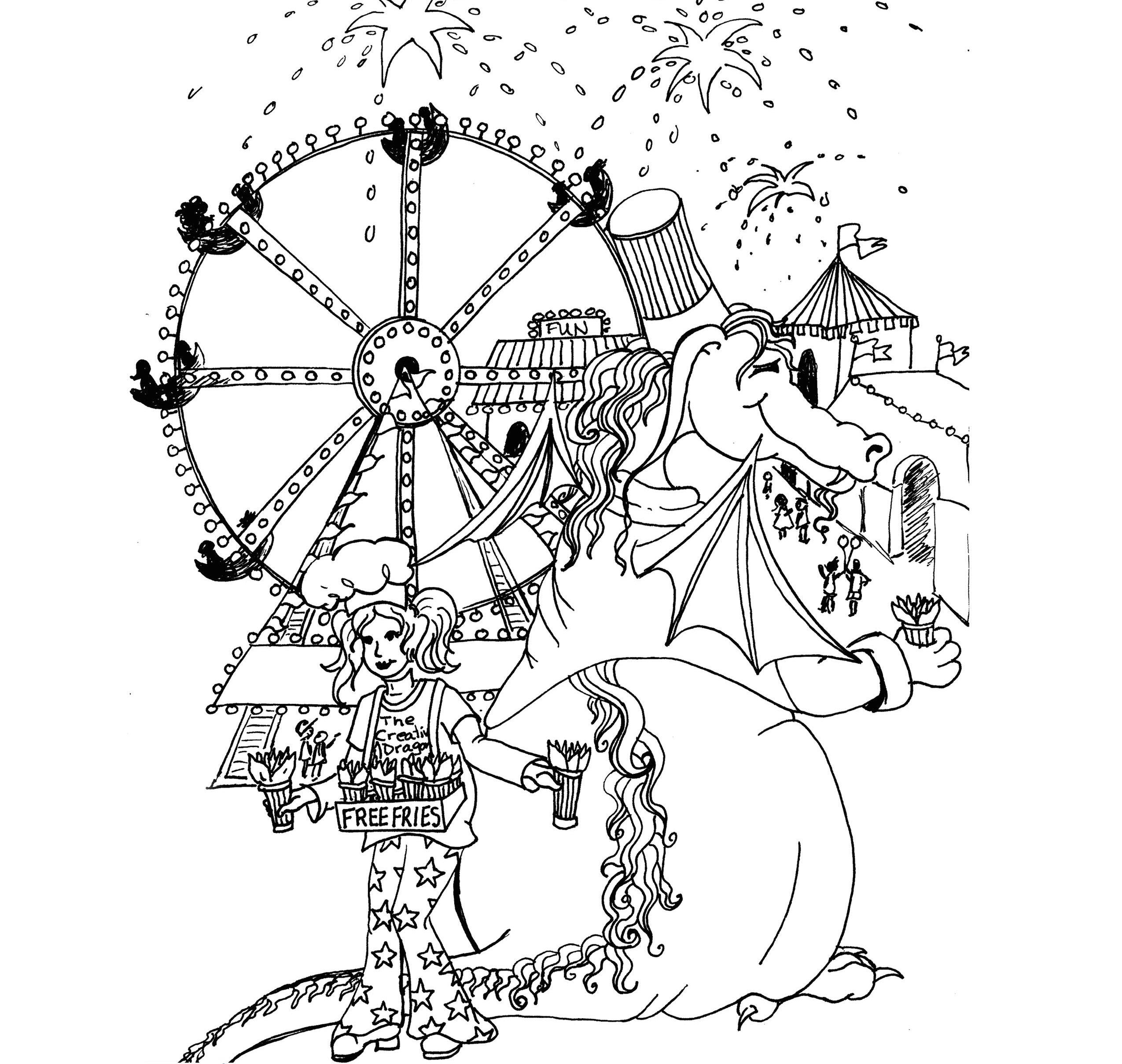 One Potato Coloring Page Princess Rain And The Dragon