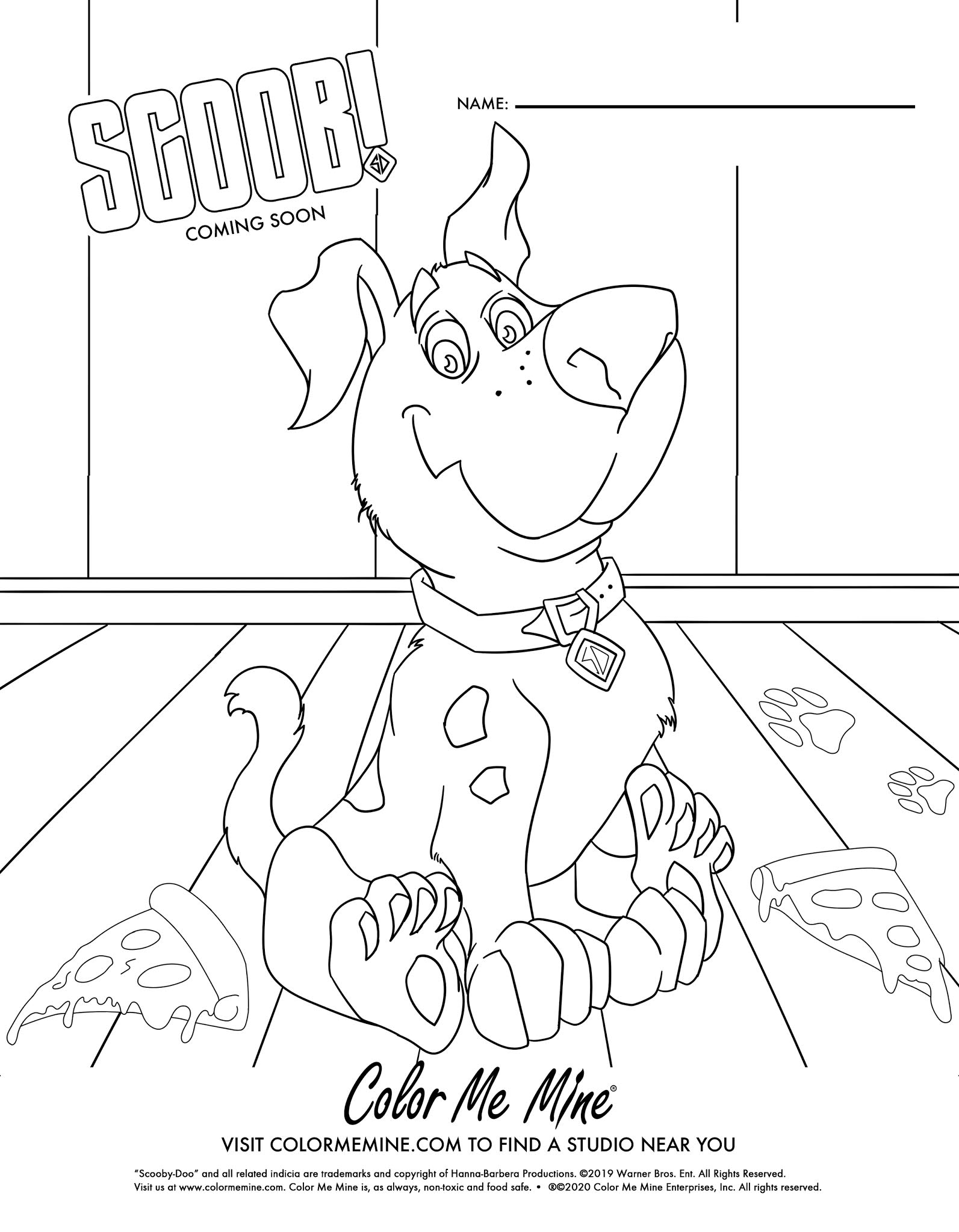 FREE SCOOB Coloring Sheets!