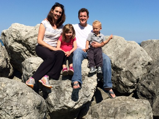 Pete Nemerovski, wife, and two kids