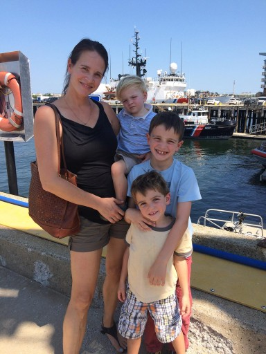 AnnMarie and 3 sons