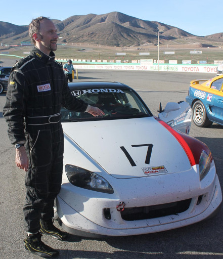 Will Clark with racecar