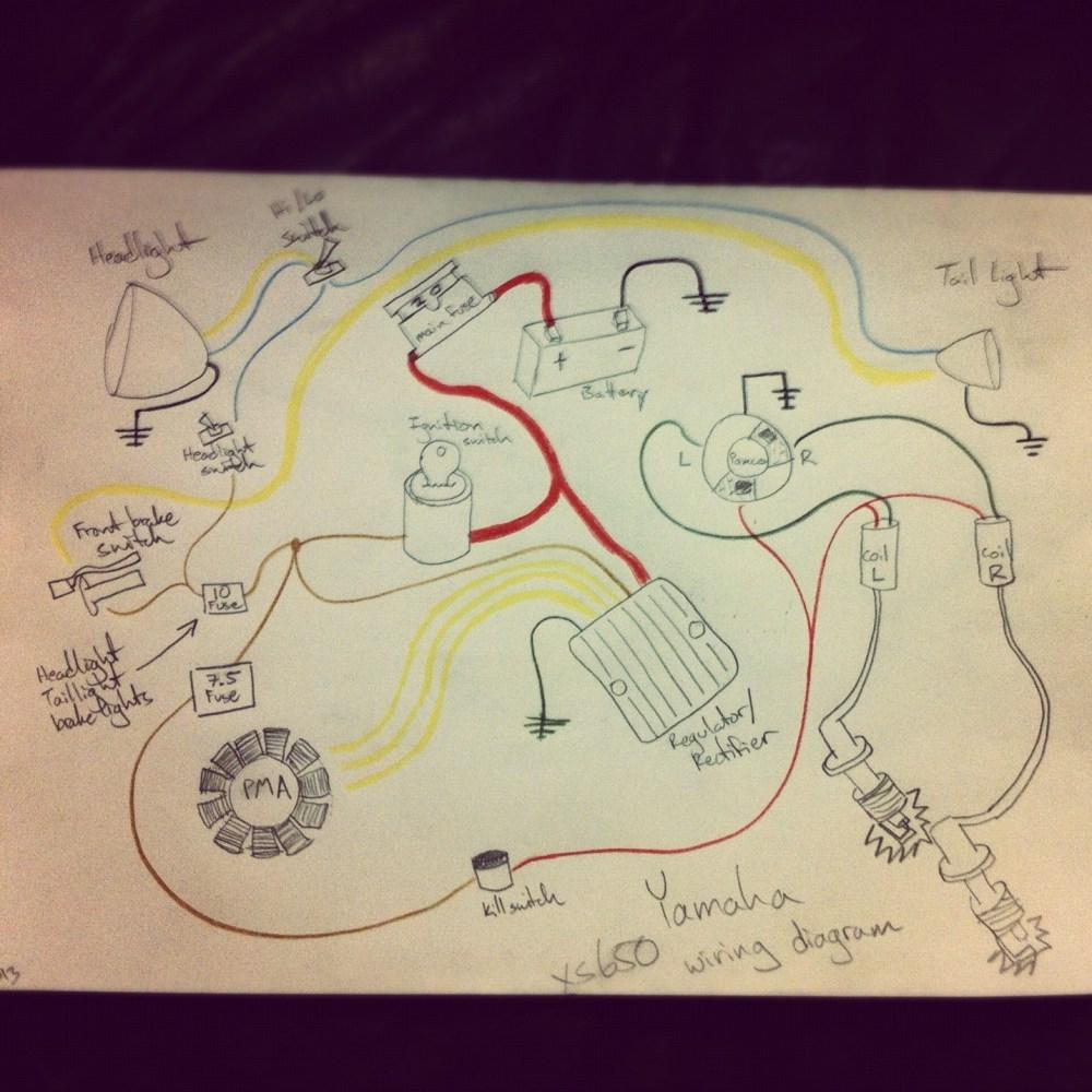 medium resolution of wiring diagram kick only pma pamco 277 yamaha xs650 forum roadrunner wiring diagram pamco wiring diagram