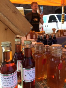 Honey and NJ-made maple syrup from Tassot Apiaries.