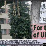 Ukrajinski Nacisti obesili trudnu ženu! (Video)