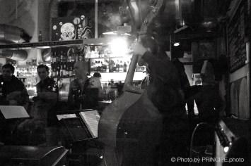 Martin Dahanukar New Quartet -Sous Les Étoiles @ Les Amis Martin Dahanukar, trumpet Michael Haudenschild, keys Philipp Moll, double-bass Willy Kotoun, percussion © 13.11.2017 Patrick Principe