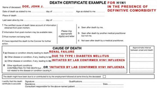 CDC Violated Law to Inflate COVID Cases and Fatalities Cause-of-death-form-h1n1