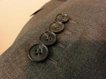 non functional cuff buttons kissing
