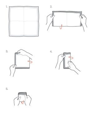 square fold how to