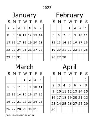 2019 three page calendar