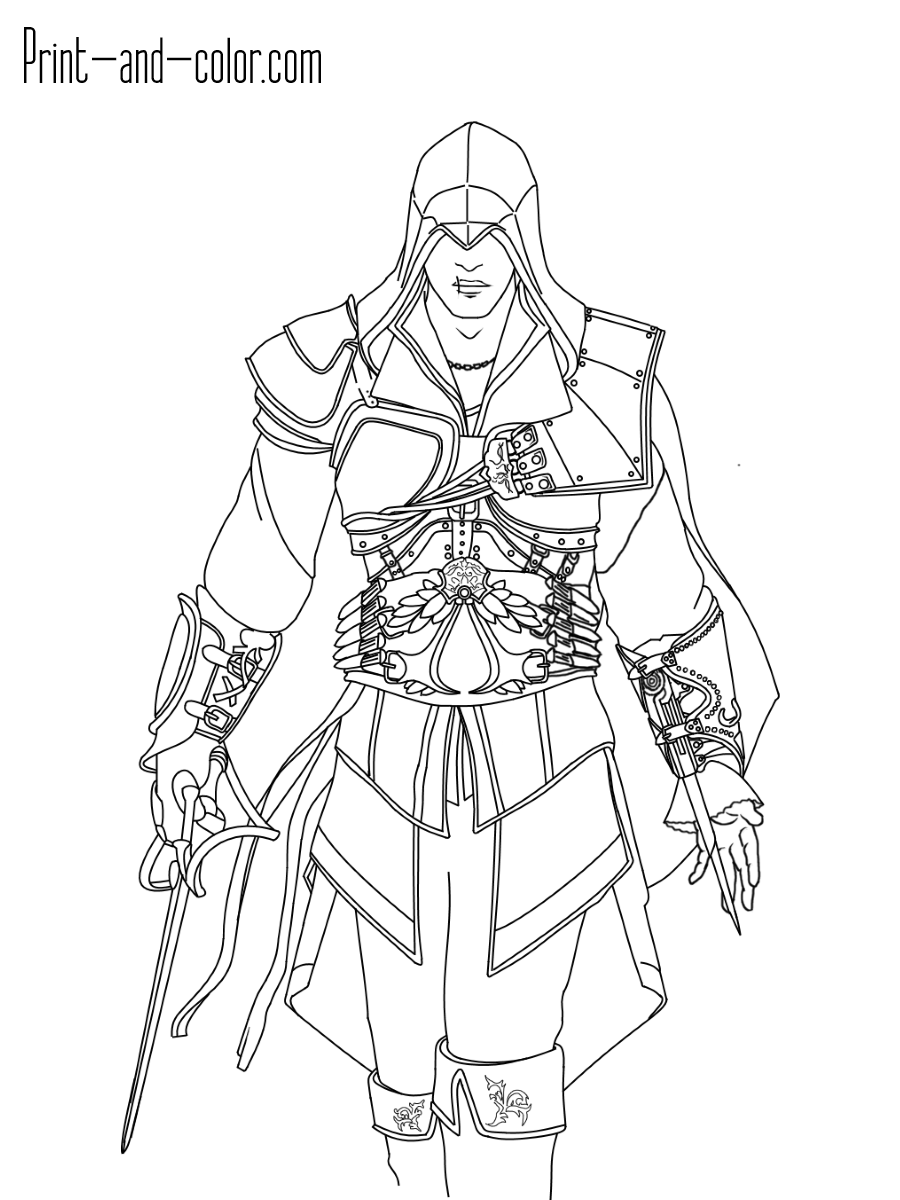Assassins Creed Coloring Pages : assassins, creed, coloring, pages, Assassin's, Creed, Coloring, Pages, Print, Color.com