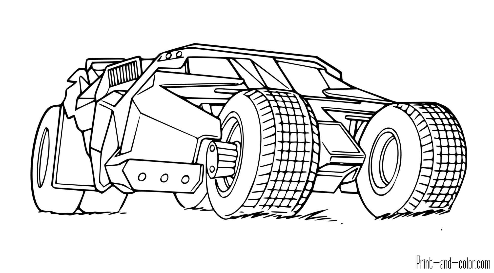 Batman Coloring Pages Print And