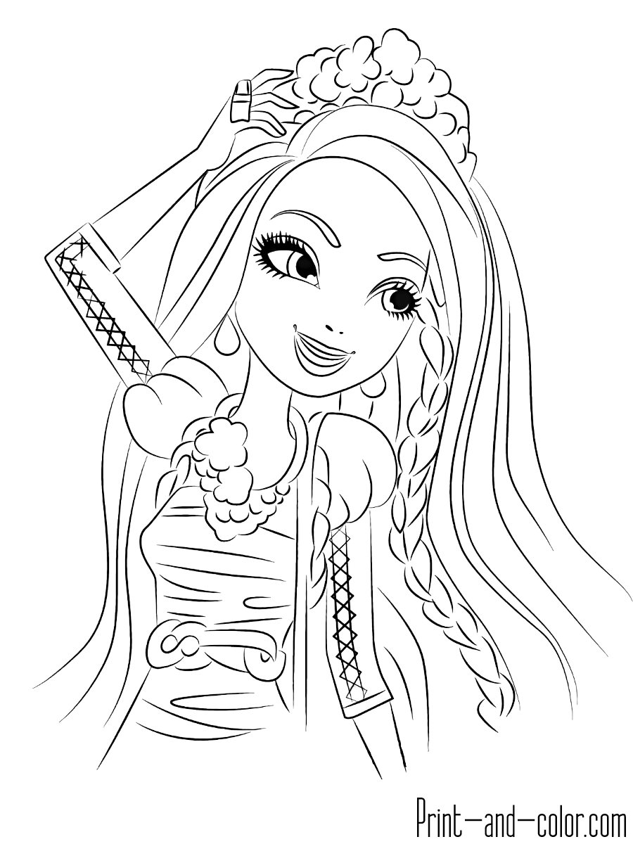 Ever After High Coloring Pages Print And