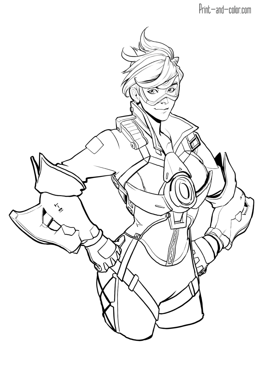 Overwatch Coloring Pages Print And Color Com