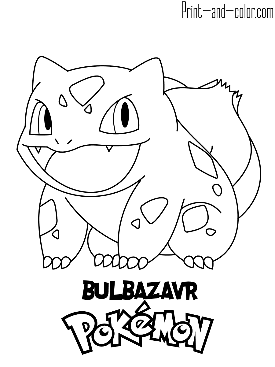 pokemon coloring pages print