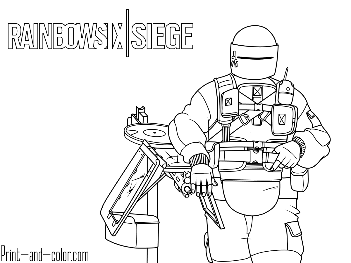 Rainbow Six Siege Coloring Pages