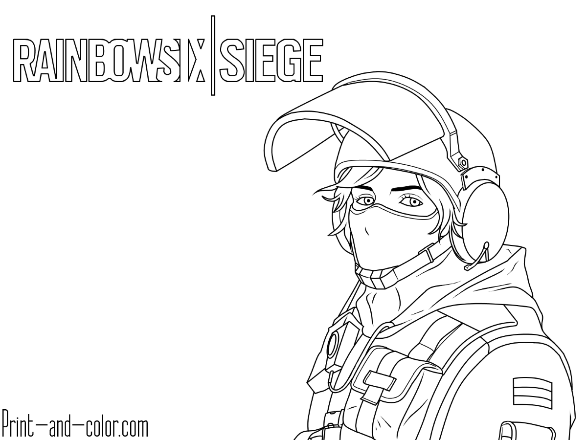 Rainbow Six Siege coloring pages Print and Color.com