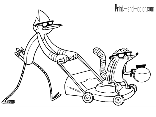Regular show color pages coloring pages kidsuki for Regular show coloring pages to print