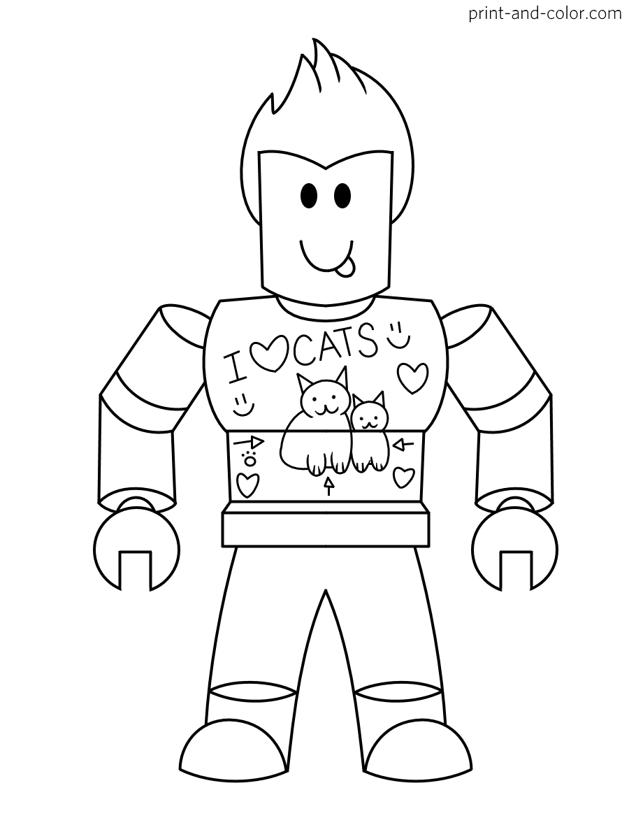 Roblox Coloring Pages Printable : roblox, coloring, pages, printable, Roblox, Coloring, Pages, Print, Color.com