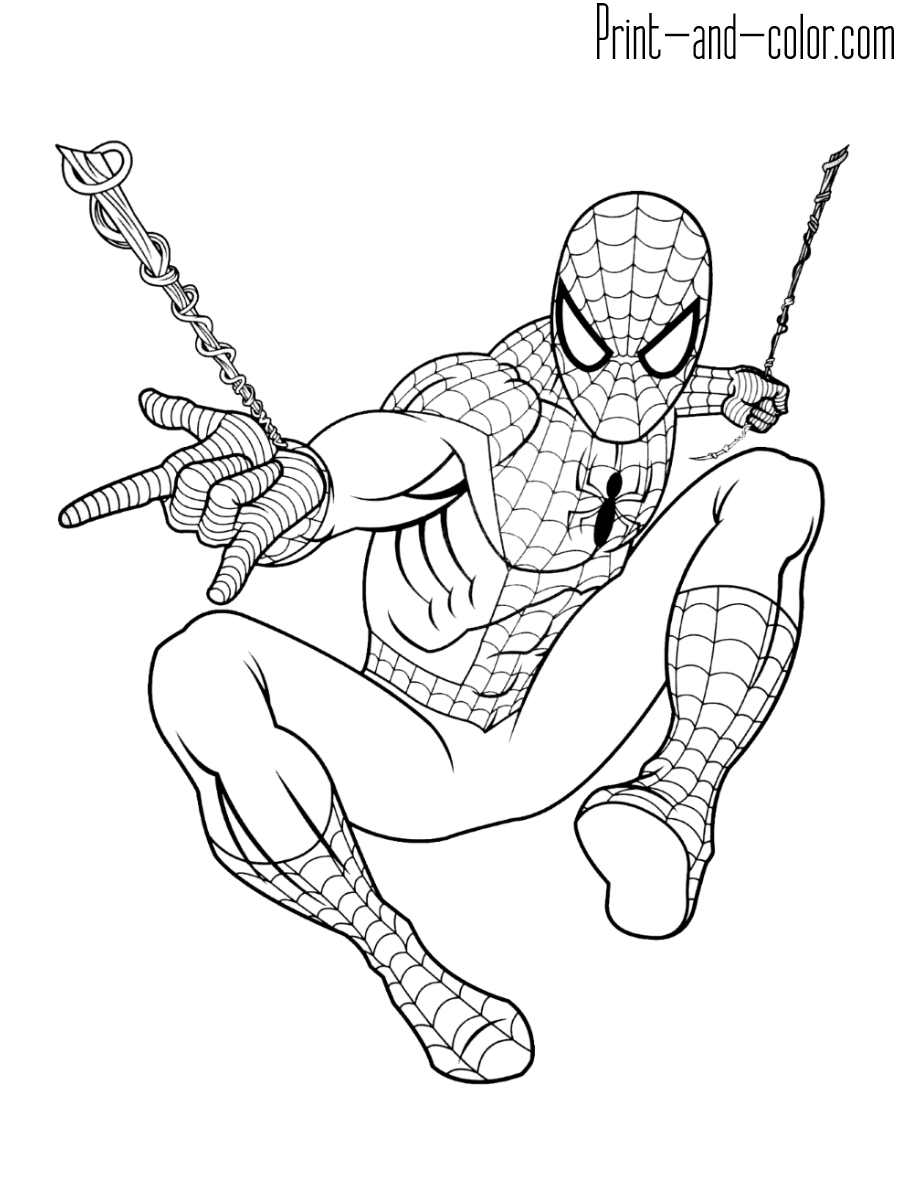 Easy Spiderman Coloring Pages : spiderman, coloring, pages, Spider, Coloring, Pages, Print, Color.com