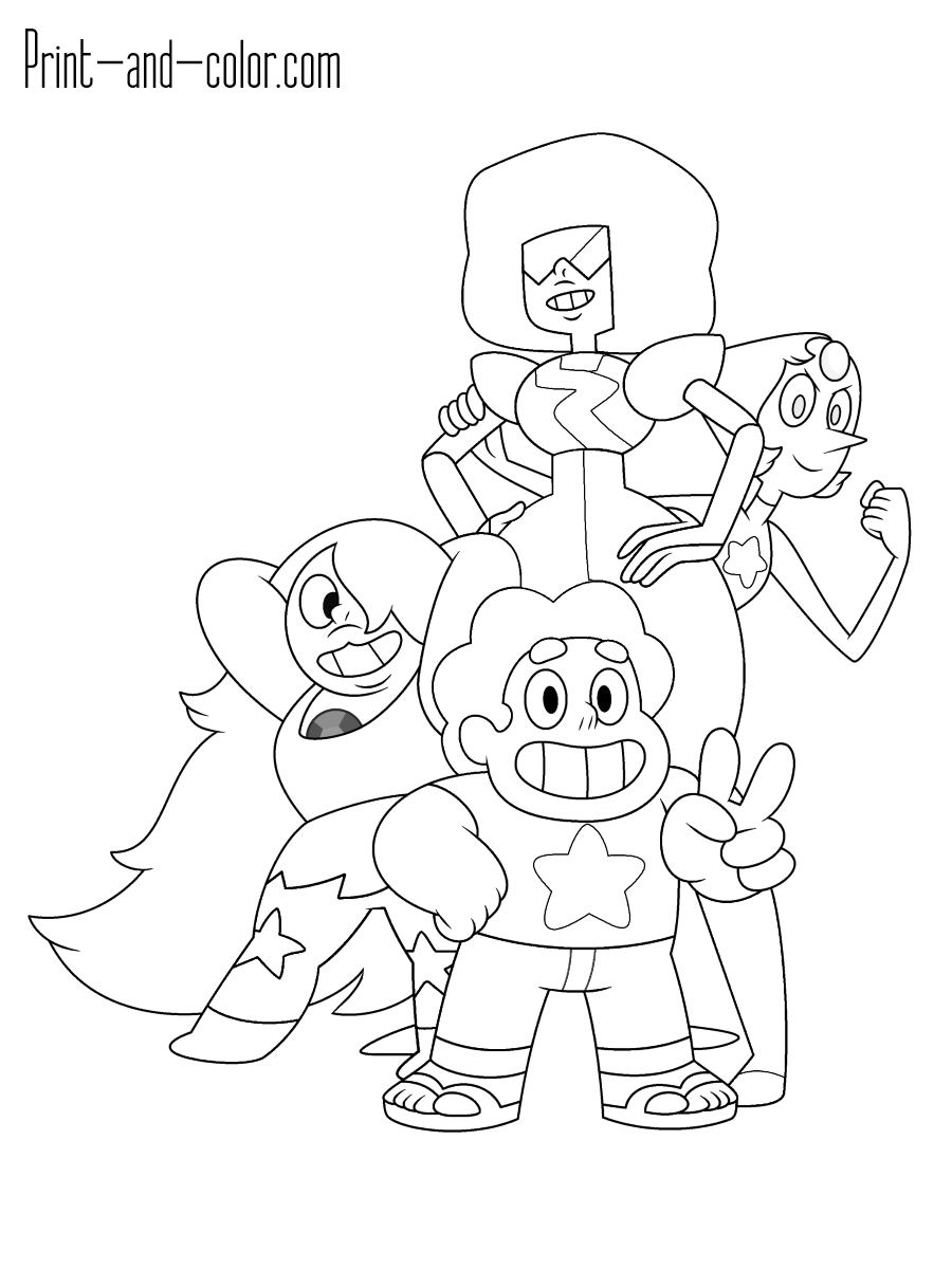 Steven Universe Coloring Pages Print And Color