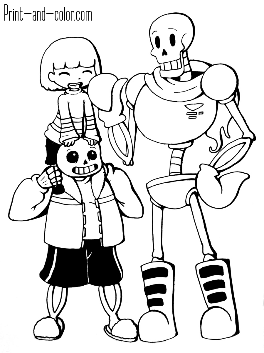 Undertale Sans Coloring Pages : undertale, coloring, pages, Undertale, Coloring, Pages, Print, Color.com