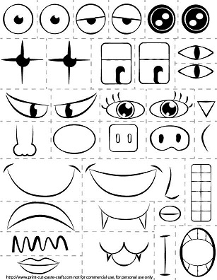 Printable Kids Activity: Make a Face/Exploring emotions
