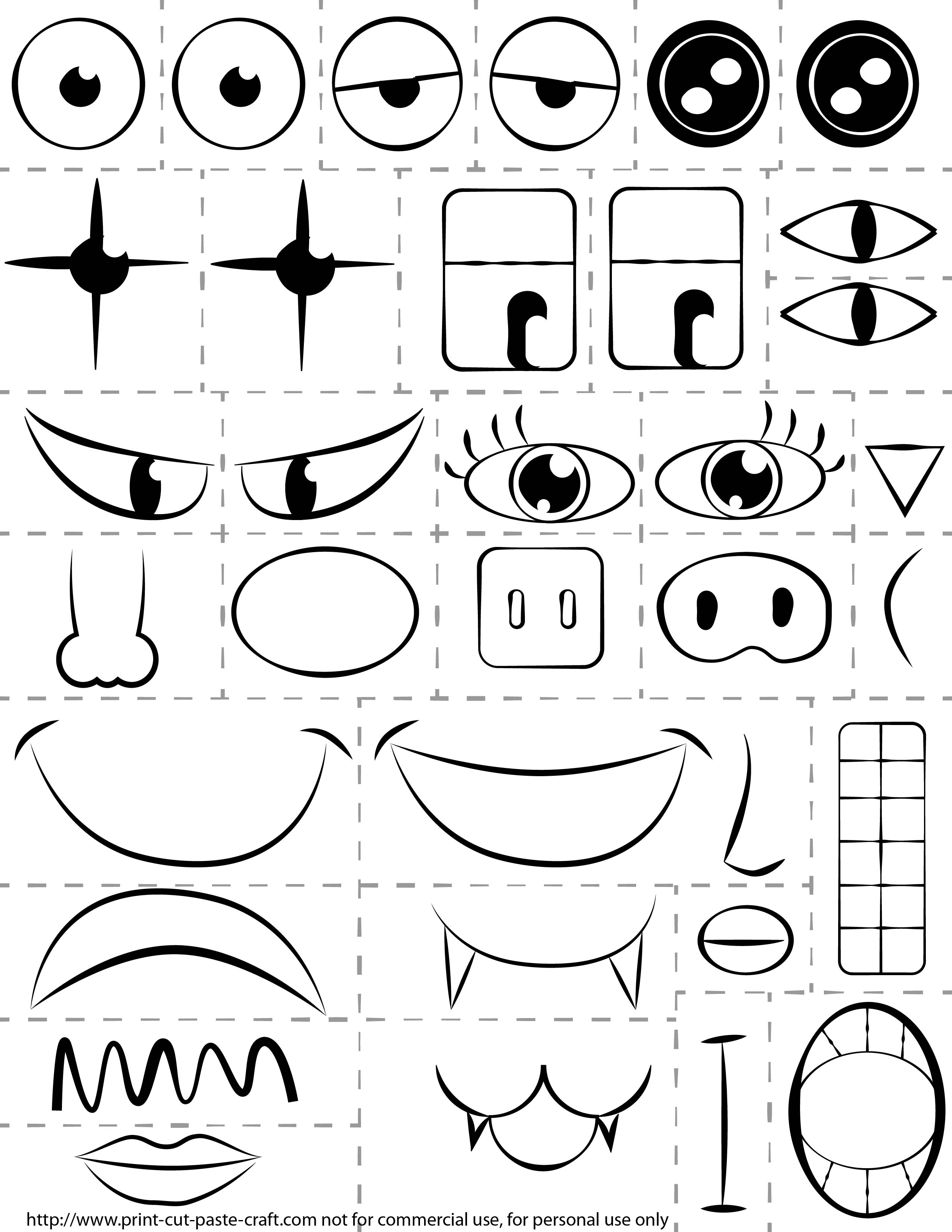 My Face Parts Coloring Pages Coloring Pages